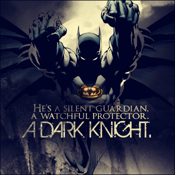 the dark knight.