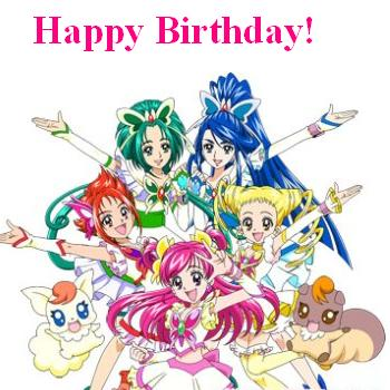 Precure Birthday Card