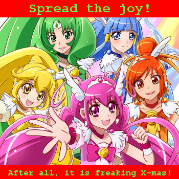 Glitter Force Christmas Card