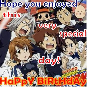 Tsuna birthday celebration with friends