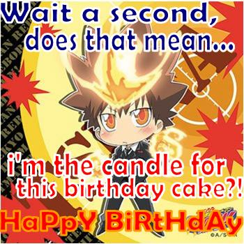 Tsuna the b-day candle