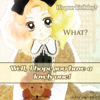 Have a lovely b-day!