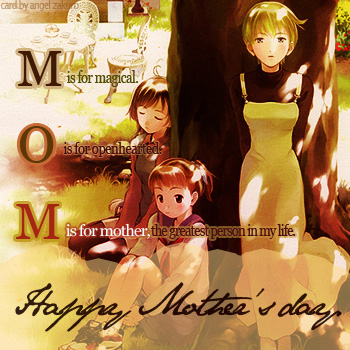 M is for mom.
