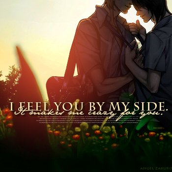 by my side.
