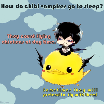Flying Chick & Chibi Vamp