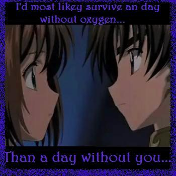 A day without you...