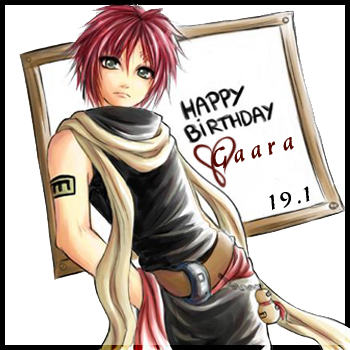 Happy Birthday Gaara!