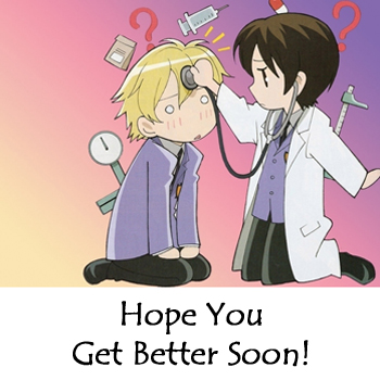 Haruhi says: Get Well Soon! ^-^