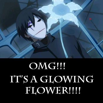 The magical glowing flower