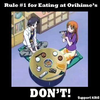 Eating at Orihime's house
