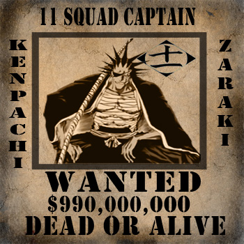 Kenpachi Wanted