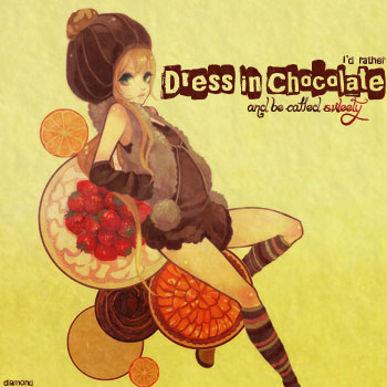 { dress in chocolate }