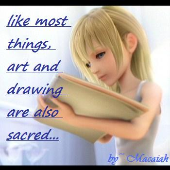 Drawing is sacred...