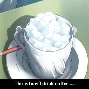 Drinking....coffee ?