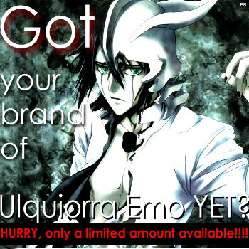 Get you Ulquiorra-brand Emo Today!!!