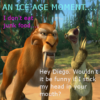 An Ice Age Moment- Diego and Sid