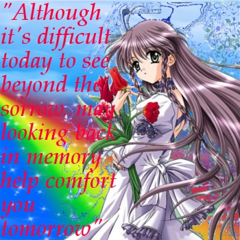 The Sorrow Today, the Comfort of Tomorrow