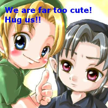 Hug us!!