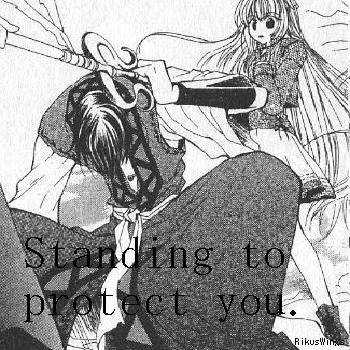 Ura and Yayoi - Standing To Protect You