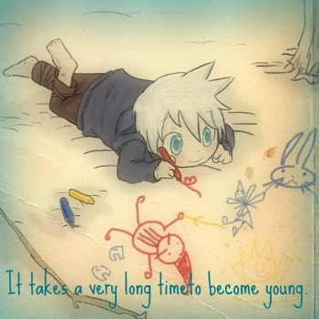 To become young...