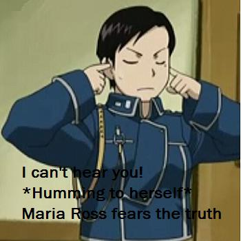 Maria Ross can't hear you!