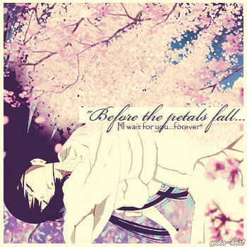 before the petals fall...