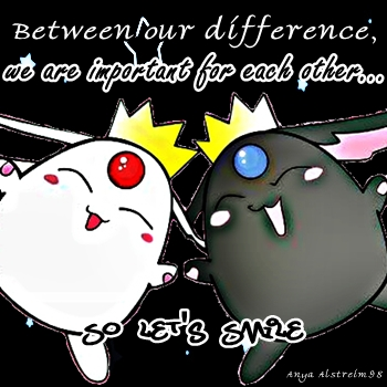 between our difference~