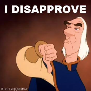 I disAPPROVE