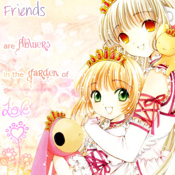 **Friends are flowers**