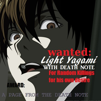 WANTED: YAGAMI LIGHT