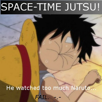 He watched to much Naruto...