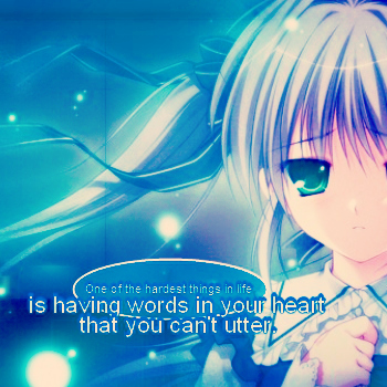 Words in heart