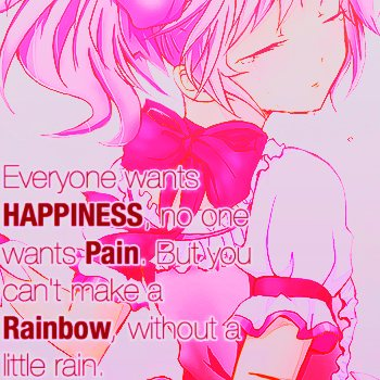 I want happiness, no (pain)