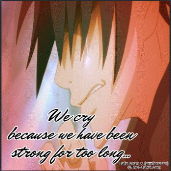Crying is not being weak..