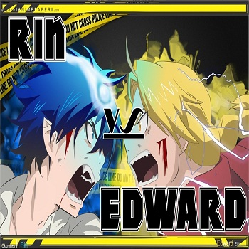 Rin vs. Edward!